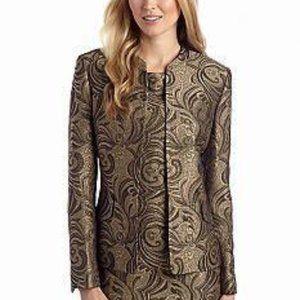 Kasper 2Pc Dress Black Gold Enchanted Journey NWT